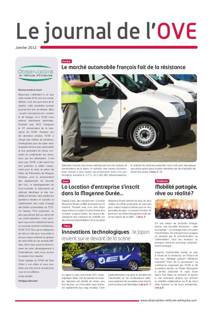 Le journal de l'OVEJanvier 2012                                          Dossier                                          ...