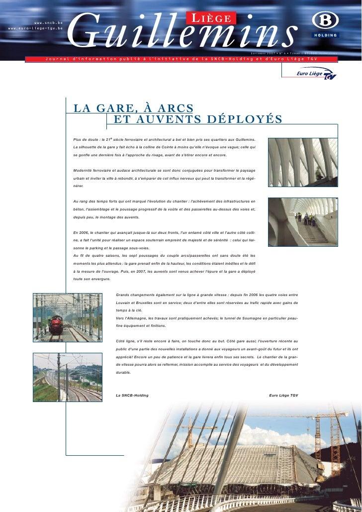 Journal de Liège-Guillemins, Septembre 2.007