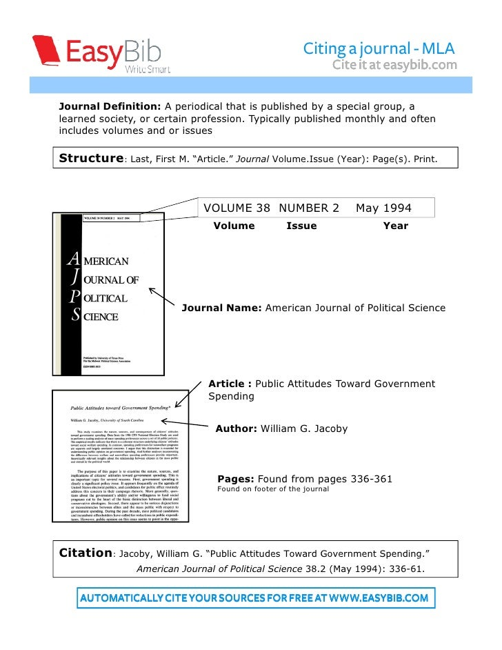 mla format for a journal Mla format instructional guide with examples for many sources including websites, journal articles, books, pdf, and others cite in mla using bibme's guide.