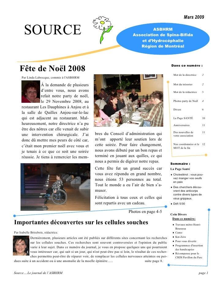 Journal Source mars 2009