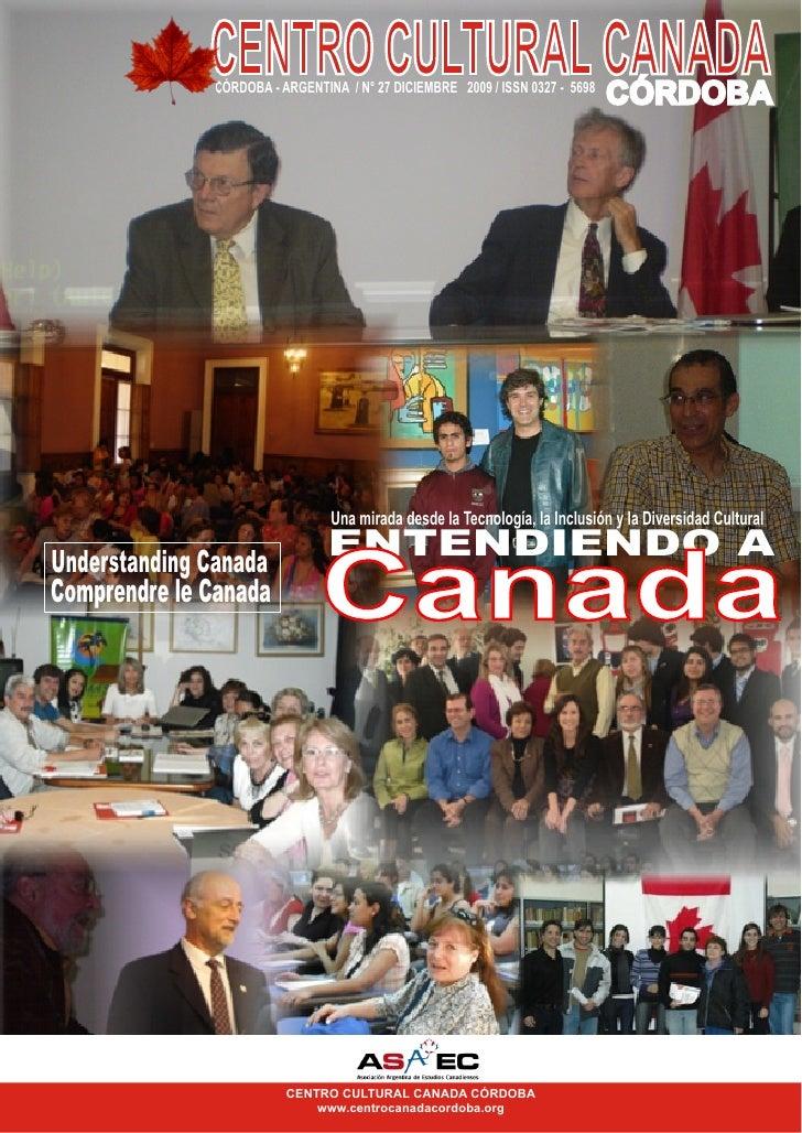 CENTRO CULTURAL CANADA                               CÓRDOBA               CÓRDOBA - ARGENTINA / N° 27 DICIEMBRE 2009 / IS...
