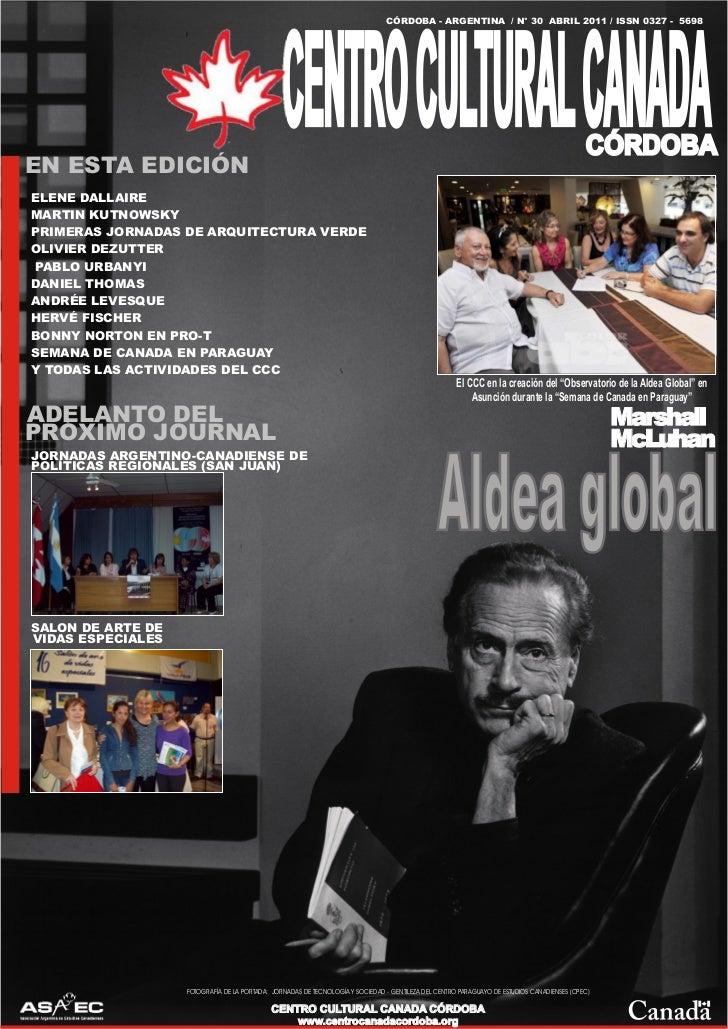 CÓRDOBA - ARGENTINA / N° 30 ABRIL 2011 / ISSN 0327 - 5698                                                CENTRO CULTURAL C...