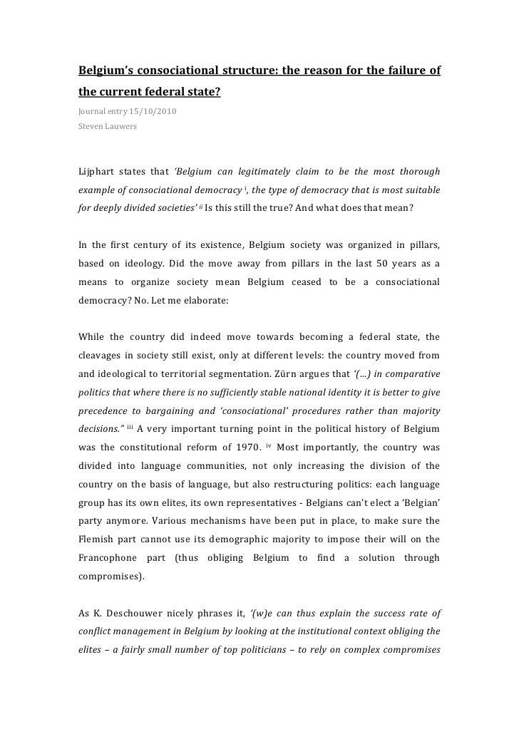 Journal 5: Belgium's failure