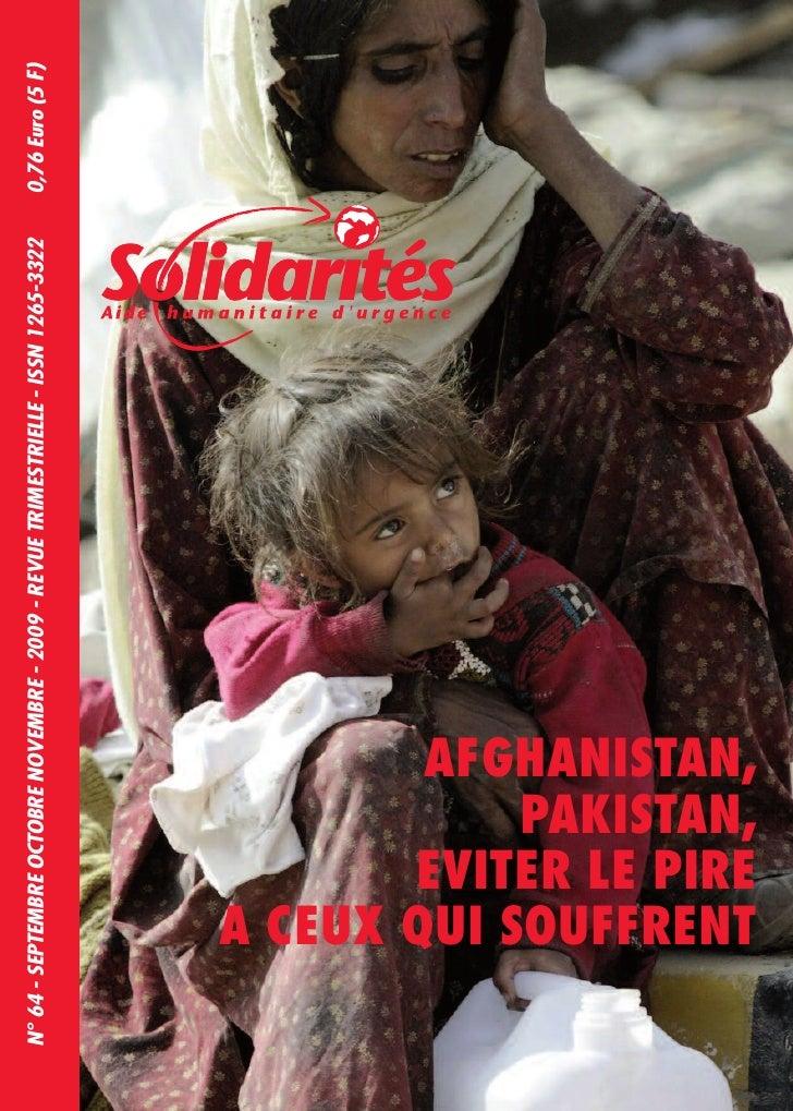 N° 64 - SEPTEMBRE OCTOBRE NOVEMBRE - 2009 - REVUE TRIMESTRIELLE - ISSN 1265-3322   0,76 Euro (5 F)             A CEUX QUI ...