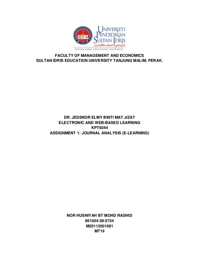 FACULTY OF MANAGEMENT AND ECONOMICS SULTAN IDRIS EDUCATION UNIVERSITY TANJUNG MALIM, PERAK.  DR. JESSNOR ELMY BINTI MAT JI...