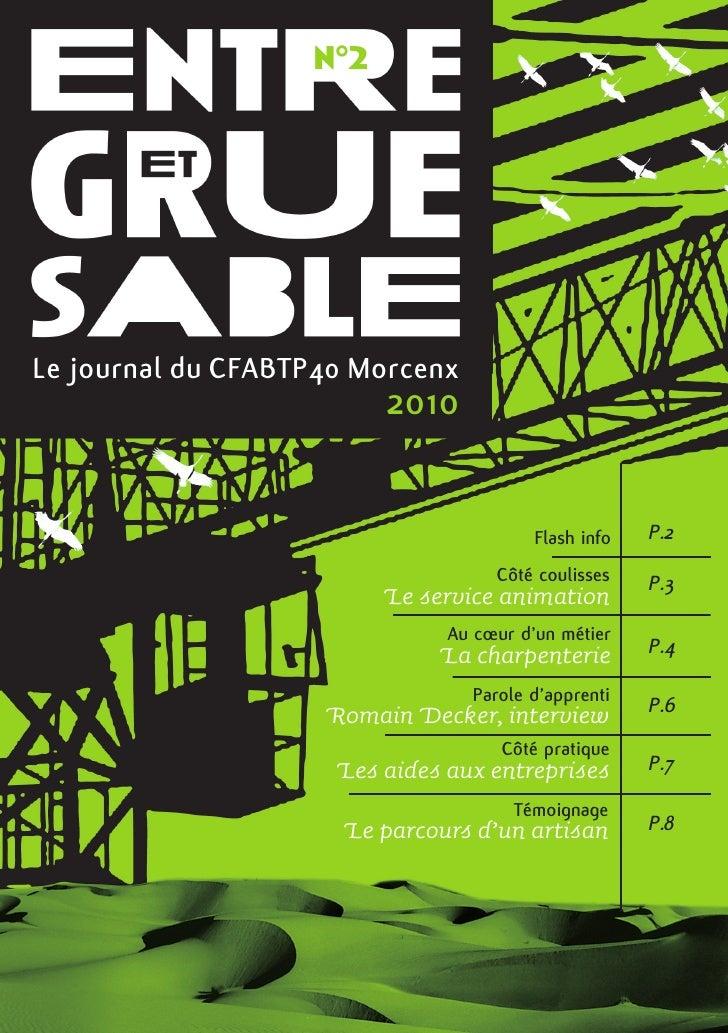 n°2Le journal du CFABTP40 Morcenx                         2010                                         Flash info   P.2   ...