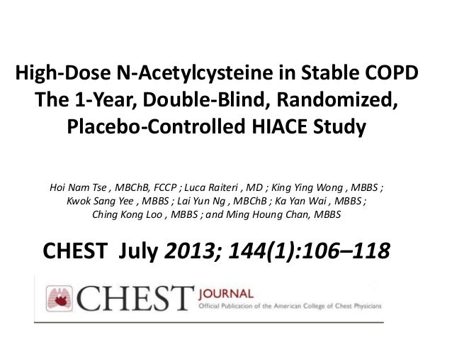 High-Dose N-Acetylcysteine in Stable COPD