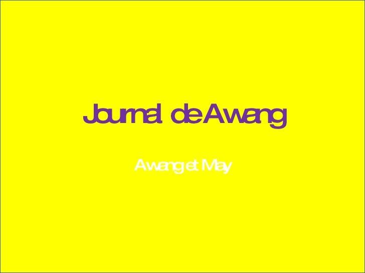Journal de Awang Awang et May