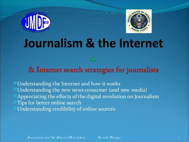 Journalism and the internt search strategies