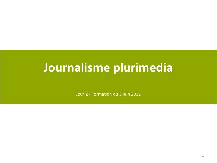 Journalisme plurimedia     Jour 2 - Formation du 5 juin 2012                                         1