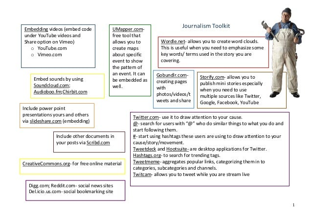 Journalism toolkit
