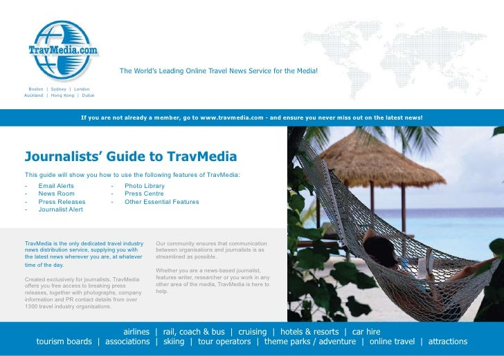 The World's Leading Online Travel News Service for the Media!    Boston | Sydney | London Auckland | Hong Kong | Dubai    ...
