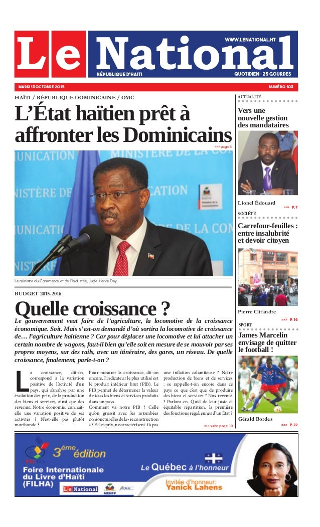 James Marcelin envisage de quitter le football ! Gérald Bordes »»» page 3 »»»   P. 7 »»»   P. 16 »»»   P. 22 ACTUALITÉ SOC...