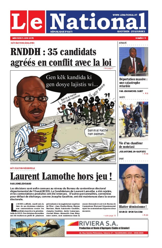 Les décisions sont enfin connues au niveau du Bureau du contentieux électoral départemental de l'Ouest(BCED). La Candidatu...
