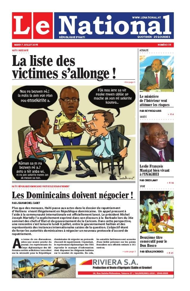Plus que des menaces, Haïti passe aux actes dans le dossier de rapatriement d'Haïtiens vivant illégalement en République d...