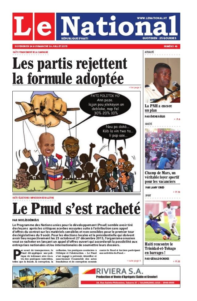 » P. 16 » P. 22 »  P. 6 SOCIÉTÉ SPORT » suite page 4 » lire page 5 Champ de Mars, un véritable foyer sportif pour les vac...