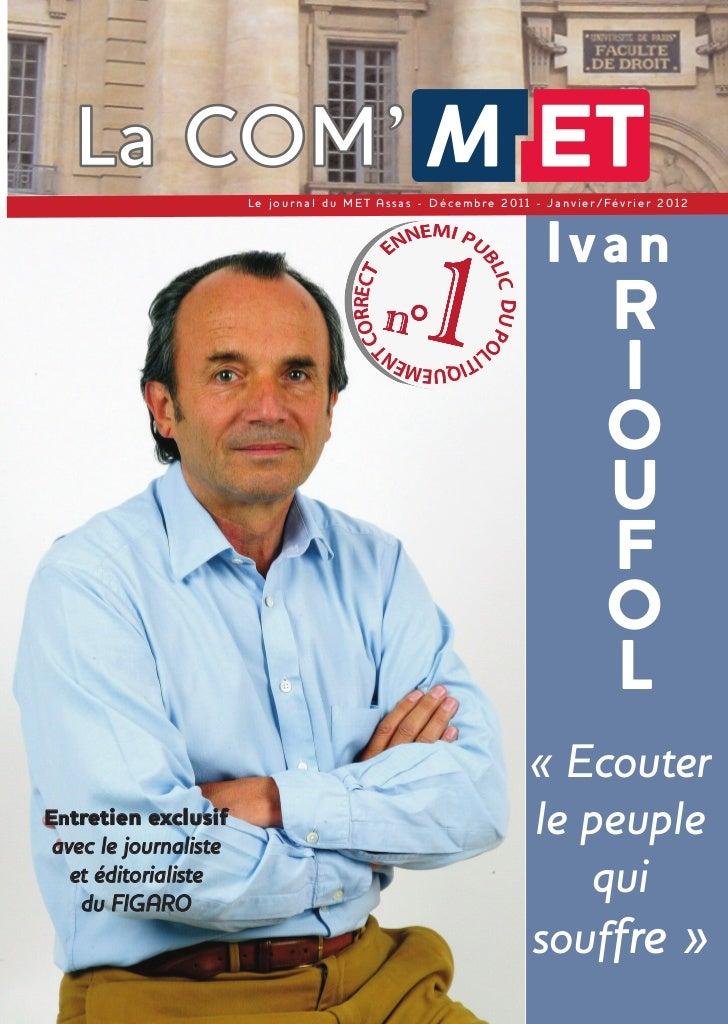 Le journal du ME T Assas - Décembre 2011 - Janvier/Février 2012                                                1          ...
