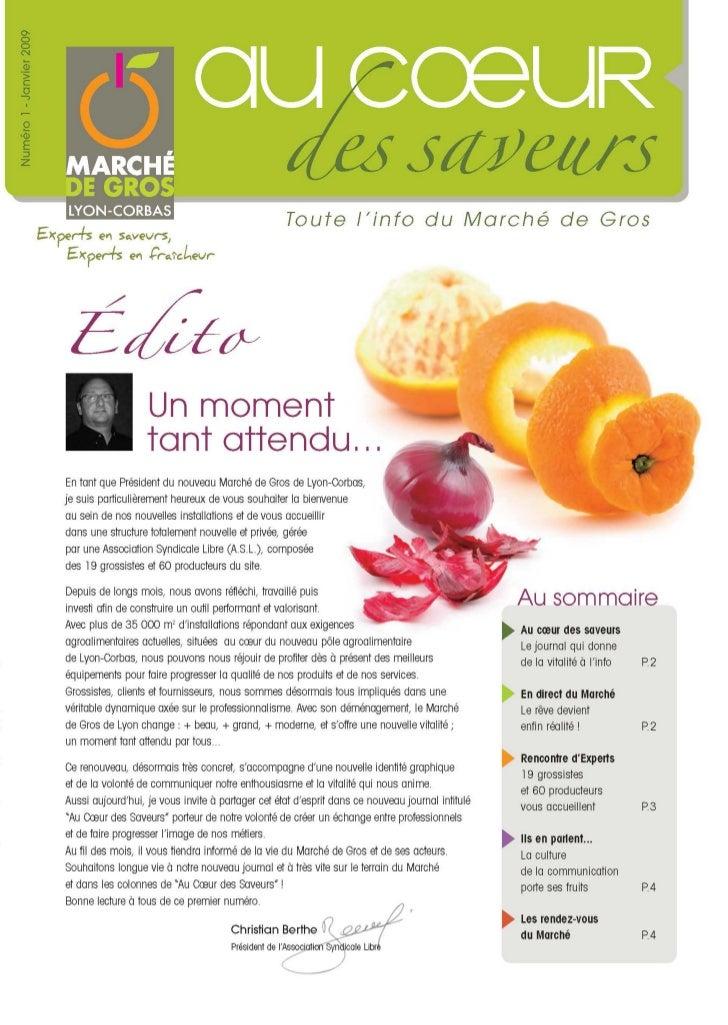 Au coeur des Saveurs - N°1 - Journal du Marché de Gros Lyon-Corbas