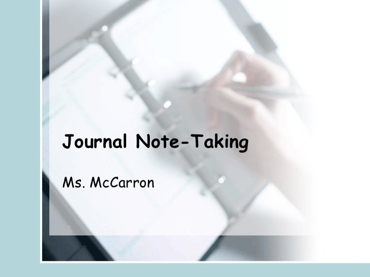 Journal Note Taking