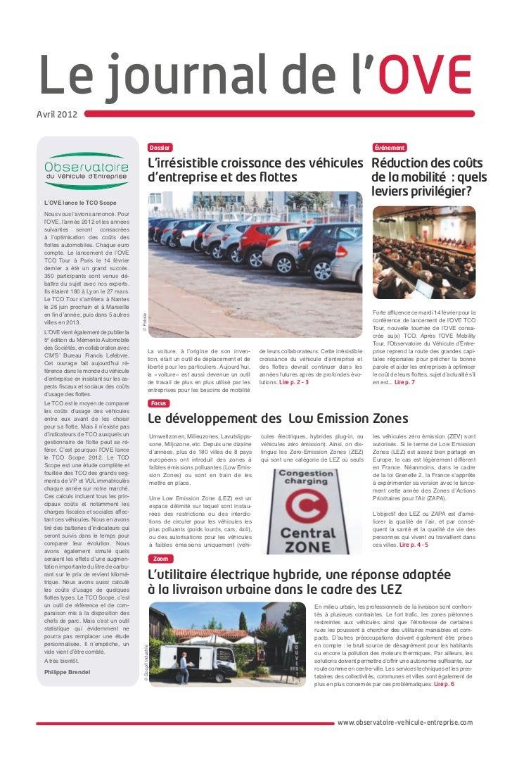 Le journal de l'OVEAvril 2012                                                               Dossier                       ...