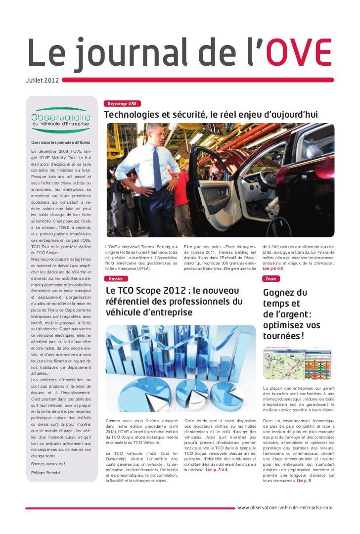 Le journal de l'OVEJuillet 2012                                         Reportage USA                                     ...