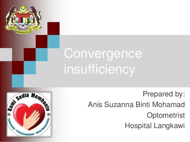 Journal presentation about convergence insufficiency