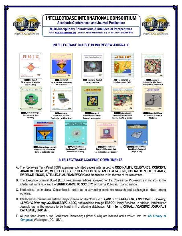 Intellectbase International Consortium  Journals Publication