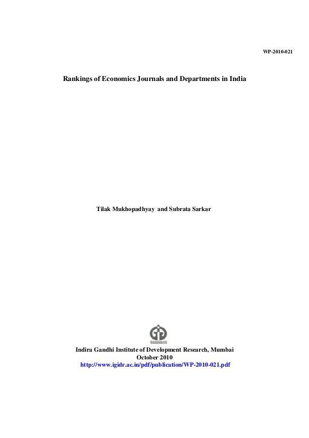 Journals ranking