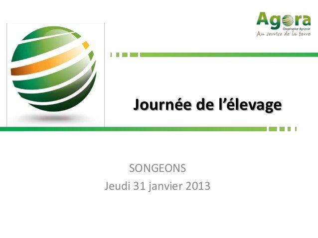 Journée de l'élevage    SONGEONSJeudi 31 janvier 2013