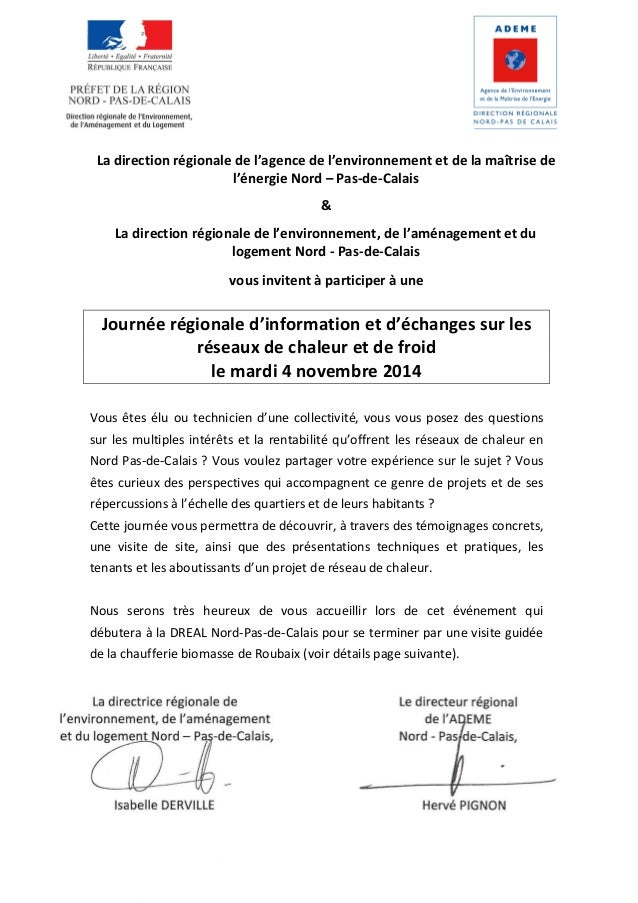 La direction régionale de l'agence de l'environnement et de la maîtrise de  l'énergie Nord – Pas-de-Calais  &  La directio...