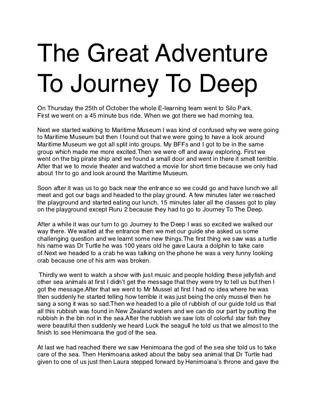 The Great AdventureTo Journey To DeepOn Thursday the 25th of October the whole E-learning team went to Silo Park.First we ...