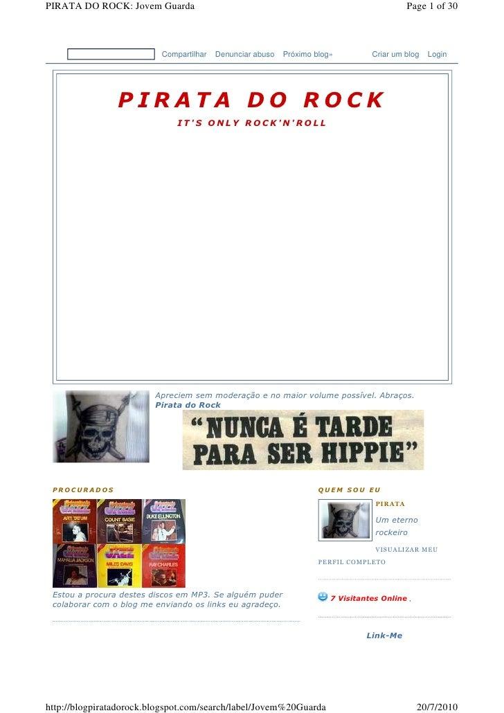 PIRATA DO ROCK: Jovem Guarda                                                                    Page 1 of 30              ...