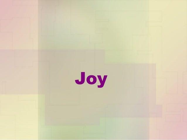 Student Example: Joy