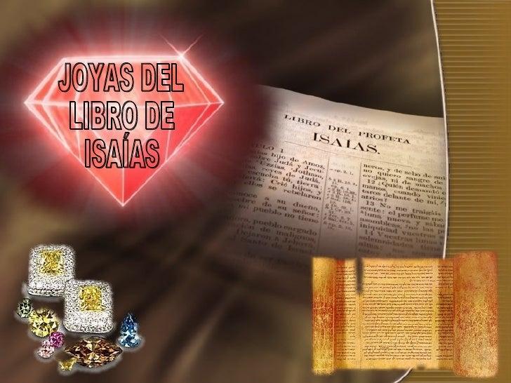 JOYAS DEL LIBRO DE ISAÍAS
