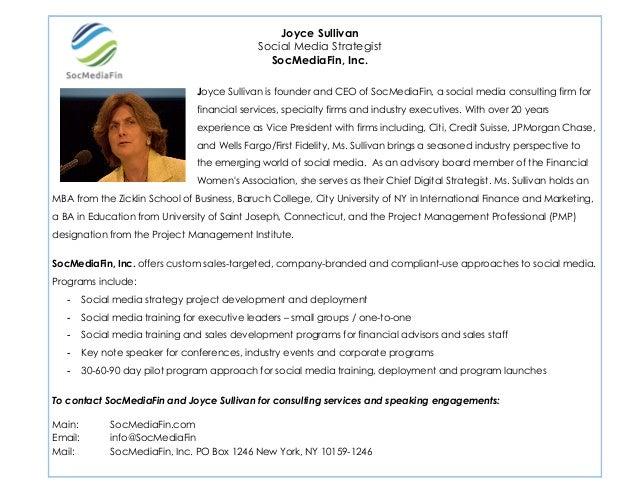 2                                                  Joyce Sullivan                                              Social Medi...