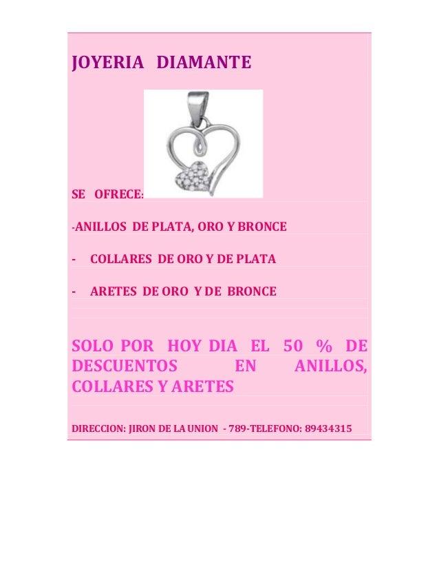 Afiche Joyeria   diamante