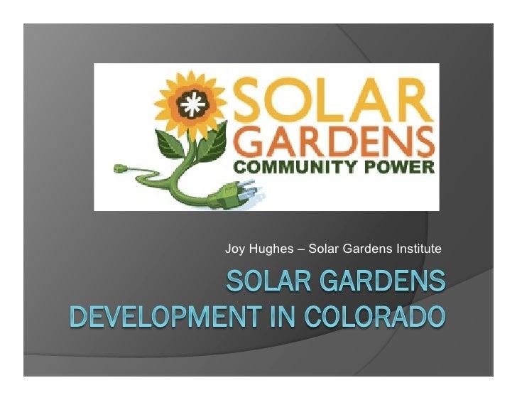 Joy Hughes – Solar Gardens Institute