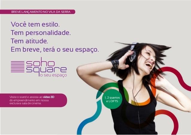 Soho Square - Apartamento 1 Quarto - Loft - Vila da Serra - BH