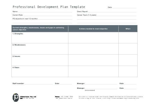 Doc951715 Personal Development Plan Template Excel 6 Free – Personal Development Portfolio Template