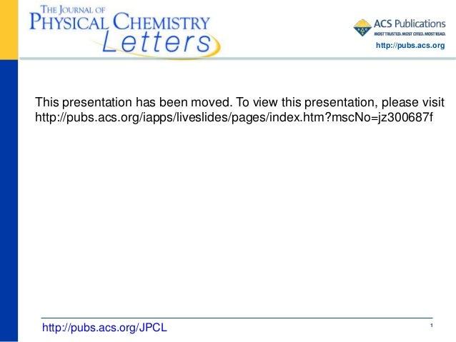 Jpcl 10.1021 jz300687f mukhopadhyay presentation
