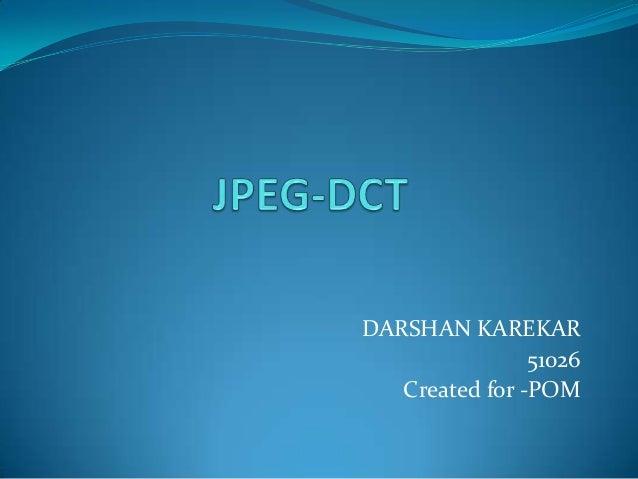 Jpeg dct
