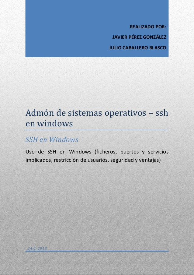J perez jcaballero_documentacion_sshwindows
