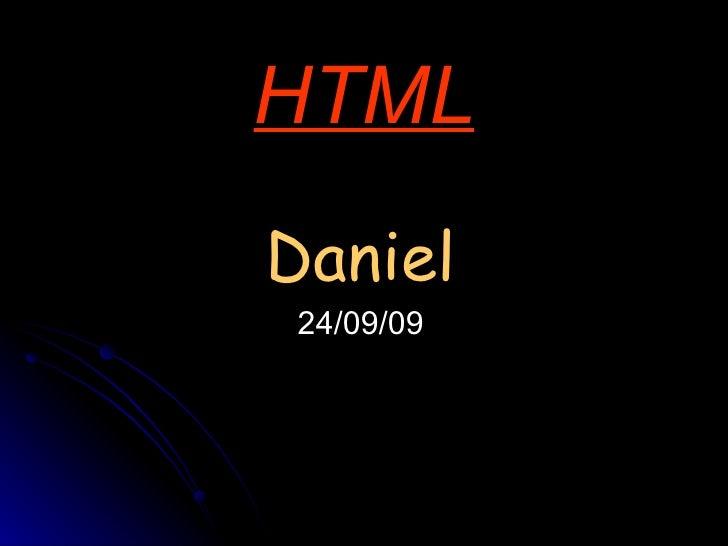 HTML Daniel 24/09/09