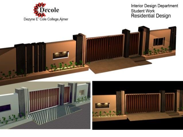 Residence Boundary Wall Design :