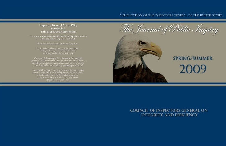 Journal of Public Inquiry Spring/Summer 2009