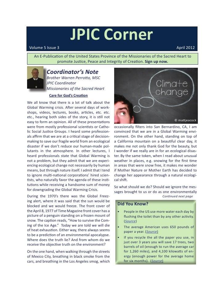 JPIC Corner Volume 5 Issue 3                                                                                 April 2012   ...