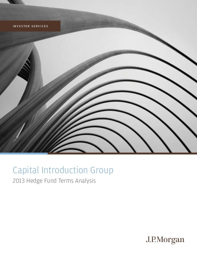 I N V E S T O R S E R V I C E S Capital Introduction Group 2013 Hedge Fund Terms Analysis