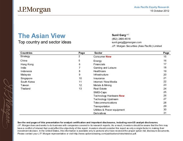 Jpm top country and sector ideas 121015