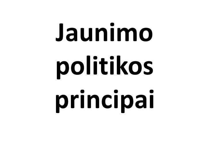 Jaunimo politikos principai