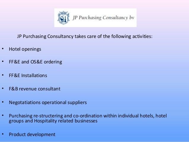 Jp purchasing consultancy 2013